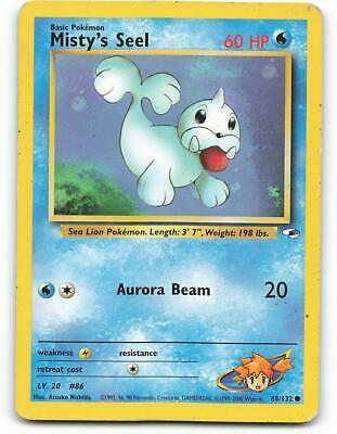 88/132   Misty's Seel   Gym Heroes   Pokemon Card   Light Played