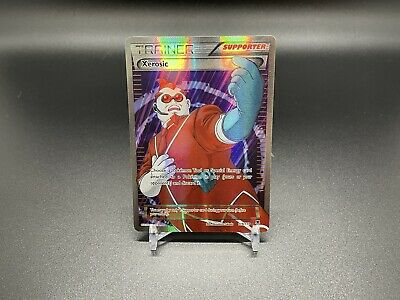 Pokemon TCG Full Body Holo Xerosic Supporter Card Phantom Forces 119/119