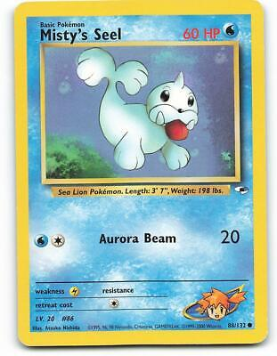 88/132 | Misty's Seel | Gym Heroes | Pokemon Card | Excellent