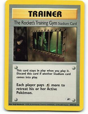 104/132   The Rocket's Training Gym   Gym Heroes   Pokemon Card   Mint
