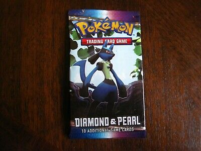 Pokemon Diamond And Pearl Base Set Booster Pack Unweighed, Lucario Art