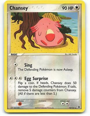19/112 | Chansey | EX FireRed LeafGreen | Pokemon Card | Excellent