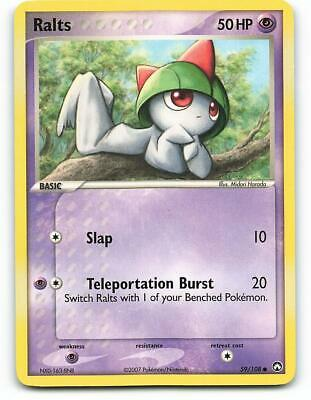 59/108   Ralts   EX Power Keepers   Pokemon Card   Excellent