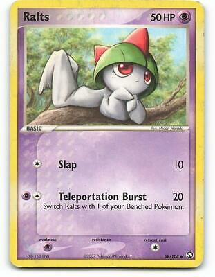 59/108   Ralts   EX Power Keepers   Pokemon Card   Played