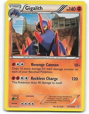 67/124   Gigalith HOLO   Dragons Exalted   Pokemon Card   NM - Mint