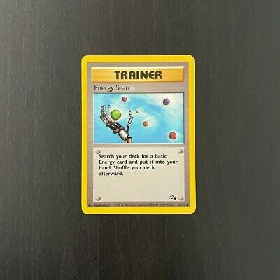 POKEMON Energy Search Trainer Card Fossil Set 59/62 - Common Near Mint NM