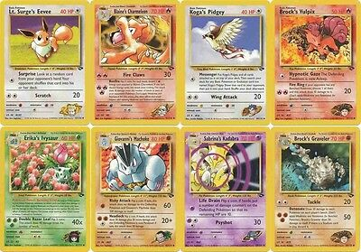 Pokemon Gym Challenge uncommon cards Charmeleon Bulbasaur Ivysaur etc CHOOSE