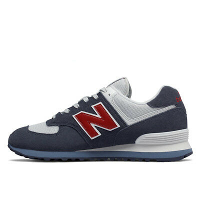 NEW Balance ML 574 ESC Classic Core Blu/Rosso Uomo Sneaker Navy with red