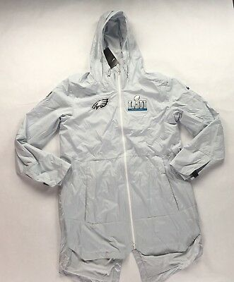 Nike NFL Philadelphia Eagles Super Bowl 52 LII Silver Cape Jacket Men s ... 916c5de7a