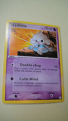 Pokemon Card Ex Hidden Legends Meditite 65/101 L@@k