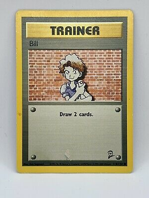 Bill 118/130 Base Set 2 Common Trainer Pokemon  Card 1999-2000