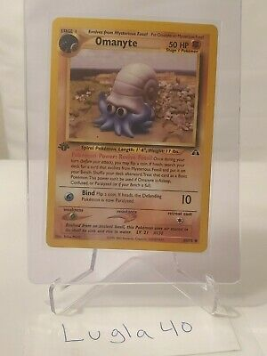 Pokemon Card - Omanyte 60/75 - Neo Discovery - 1ST EDITION