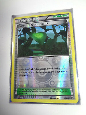 Pokemon Ancient Origins Forest Of Giant Plants 74/98 Holo Card Sleeve Included