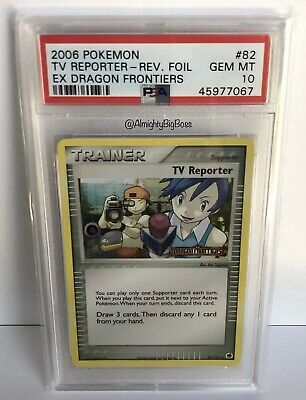 Pokemon EX Dragon Frontiers TV Reporter Reverse Foil Stamp PSA 10 Gem Mint Pop 3