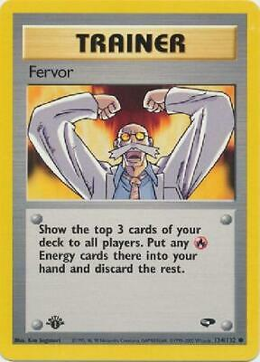 Fervor - 124/132 - Common 1st Edition Near Mint Gym Challenge Pokemon 2GQ