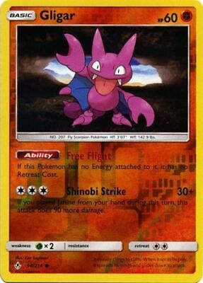 1x Gligar - 98/214 - Common - Reverse Holo Unbroken Bonds Pokemon Near Mint
