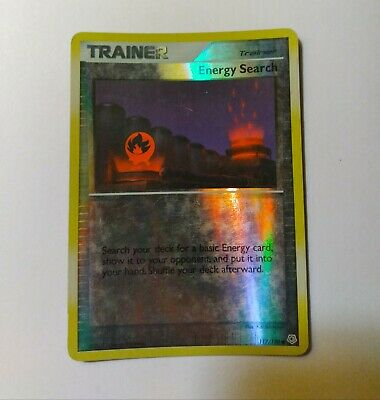 Energy Search 117/130 Diamond & Pearl Trainer Pokemon Card Reverse Holo NM