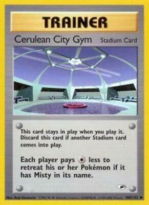1x Cerulean City Gym - 108/132 - Uncommon - Unlimited Edition Gym Heroes Pokemon