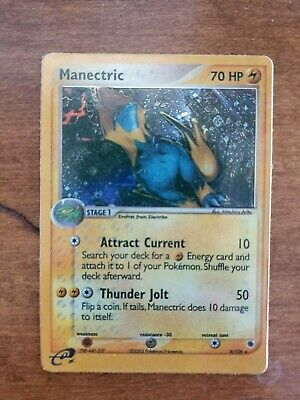 Manectric 9/109 - Ruby & Sapphire Set Holo Rare Pokemon Card Excellent Condition