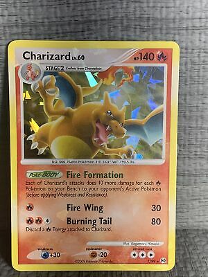 Charizard Lv.60 1/99 Platinum Arceus Ice Holo Rare Pokemon Card LP Small Damage