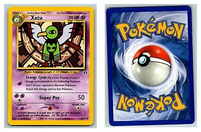 Xatu 52/75 Neo Discovery Pokemon Card P Condition *