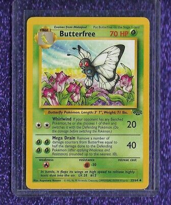 Butterfree Pokemon Jungle Uncommon Card {never Played...pack Fresh!}