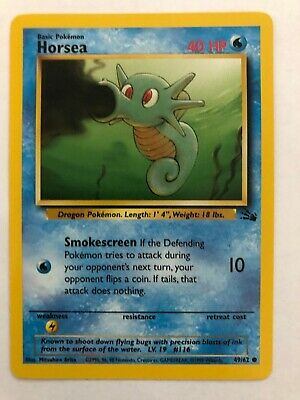 1999 Pokemon Fossil Set COMMON Horsea 49/62 - Near Mint (NM) Condition