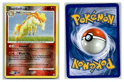 Rapidash 59/130 REVERSE HOLO Diamond and Pearl Pokemon Card HP Cond