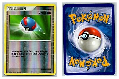 Great Ball 85/100 REVERSE HOLO Stormfront Pokemon Card P-HP Cond