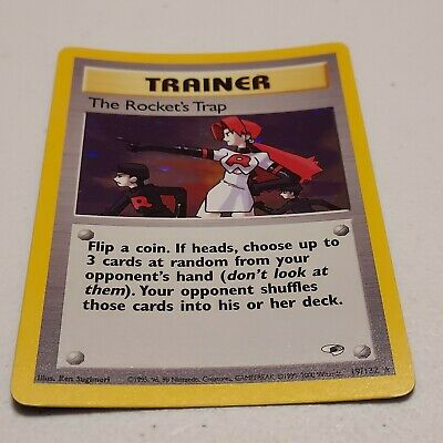 Pokemon Card Unlimited Holo Rare Gym Heroes 2000 The Rocket's Trap 19/132