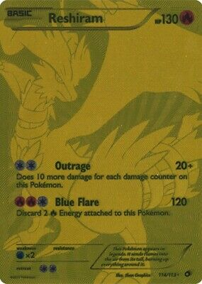 Reshiram - 114/113 - Full Art Ultra Rare Pokemon (Legendary Treasures) Near Mint