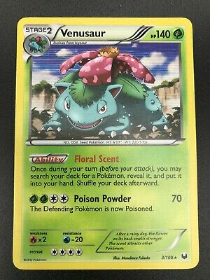 Venusaur HOLO RARE 3/108 Pokemon BW Dark Explorers Card NM TCG