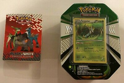 Pokemon Serperior Tin - Call of Legends & Black & White - Opened with PROMO CARD
