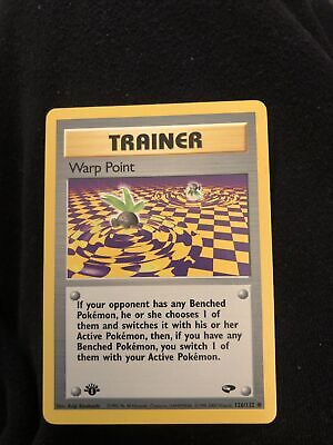 1st Edition Warp Point 126/132 Gym Challenge - Common Pokemon Card - NM
