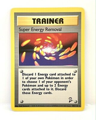 Super Energy Removal 108/130 Base Set 2 RARE Trainer Pokemon Card TCG WotC - LP