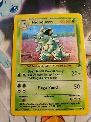 Pokemon Jungle Nidoqueen 7/64 Holo MP HP