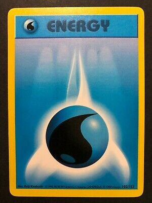 Pokemon Shadowless Base Set Water Energy 102/102 - Excellent/Near Mint (EX/NM)