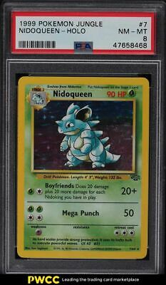 1999 Pokemon Jungle Nidoqueen - Holo #7 PSA 8 NM-MT