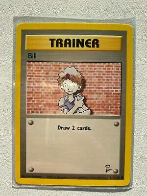 Bill Trainer Card  #118/130 Pokemon Original Base Set 2 (psa Ready)