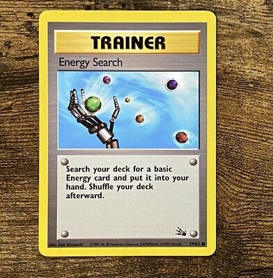 Pokemon Card - Energy Search Trainer - Fossil 59/62