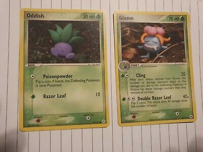 Oddish And Gloom Ex Hidden Legends pokemon cards mint pack fresh