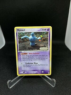Pokemon Card Wynaut (EX Legend Maker) 71/92 MP Stamped Reverse Holo Swirl
