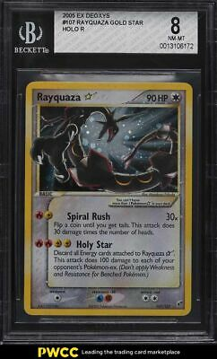 2005 Pokemon EX Deoxys Gold Star Holo Rayquaza #107 BGS 8 NM-MT