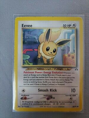 Eevee 38/75 Neo Discovery PLAYED Pokemon Card