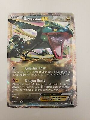 Pokemon Dragons Exalted - Rayquaza EX 85/124 Holo Foil Ultra Rare - NM