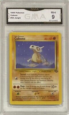 1999 Pokemon Jungle Unlimited #50 Cubone Graded GMA 9 Mint