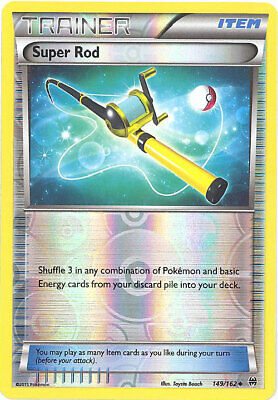 Pokemon Card - XY BREAKthrough 149/162 - SUPER ROD (reverse holo) - NM/Mint