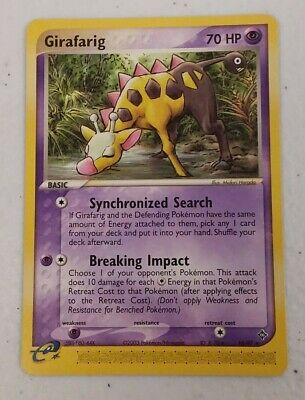 Girafarig 16/97 Ex Dragon Rare Pokemon Trading Card