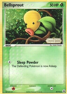 1x Bellsprout - 49/92 - Common - Reverse Holo EX Legend Maker Pokemon Played