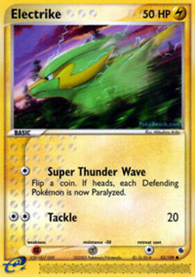 1x Electrike - 53/109 - Common - Reverse Holo EX Ruby & Sapphire Pokemon Played